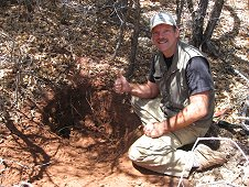 Glorieta Expeditions - Greg thinks he has found a large one too...