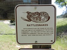 Sutter's Mill Expedition - Rattlesnake warning sign.