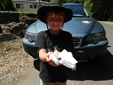 Sutter's Mill Expedition - One happy little meteorite finder.
