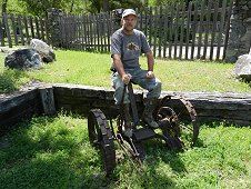 Sutter's Mill Expedition - Greg tries out the old contraption.