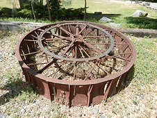 Sutter's Mill Expedition - Old wheel for use in old gold mining operation.