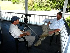 Sutter's Mill Expedition - Mike Farmer gets interviewed for a documentary.