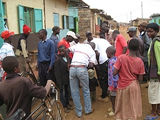 Thika, Kenya Expedition - Local villagers signing up to to be paid for a days hunt.