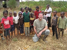 Thika, Kenya Expedition - Greg with an enthusiastic group of young hunters.