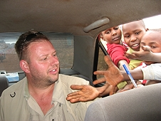 Thika, Kenya Expedition - We handed out gifts everywhere we went, pens this time.