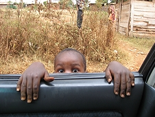 Thika, Kenya Expedition - Another eager youngster wanting to hunt, or more likely some candy.