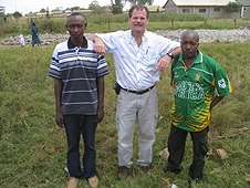 Thika, Kenya Expedition - Greg with our Kenyan guide and driver.