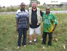 Thika, Kenya Expedition - Mike with our Kenyan guide and driver.