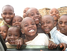 Thika, Kenya Expedition - Wherever we stopped, we were mobbed by smiling faces!