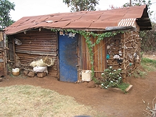 Thika, Kenya Expedition - Typical dwelling in the Thika strewnfield.