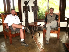 Thika, Kenya Expedition - Mike and Greg chilling out at the lodge.