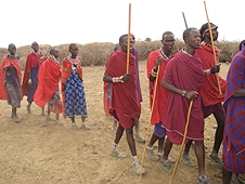 Thika, Kenya Expedition - Maasai warriors going out on a hunt.