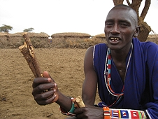 Thika, Kenya Expedition - Medicine man teaching us the power of this stick.