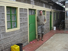 Thika, Kenya Expedition - Greg at location of one of the house smashers.