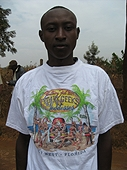 Thika, Kenya Expedition - Stanley likes his Fantasy Fest T-shirt!