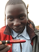 Thika, Kenya Expedition - This guy sure liked one of Marlin Cilz' pens!