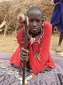 Thika, Kenya Expedition - I purchased this Maasai warrior club from her.