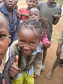 Thika, Kenya Expedition - Thumbs Up! Support from the whole village.